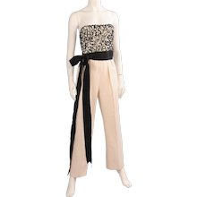 Givenchy Haute Couture Beaded Strapless Evening  Jumpsuit