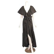 Halston 1970's Ruffled Wrap Dress