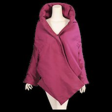 Romeo Gigli Purple Silk Evening Jacket Wrap