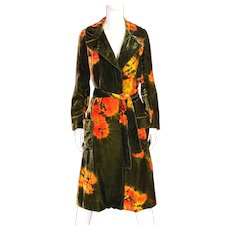 1960's Halston Tie Dye Coat Ensemble