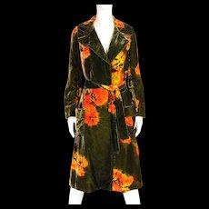 1960's Halston Tie Dye Coat Ensemble