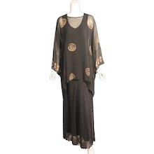 Textile Artist Marion Clayden Tie Dye Two Piece Silk Chiffon Evening Dress