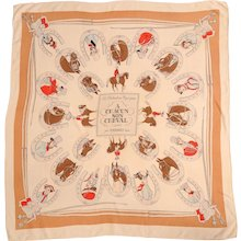 1946 Hermes Scarf Les Distractions Hippiques, A Chacun Son Cheval