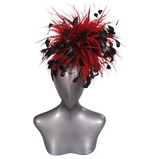 Givenchy Haute Couture Runway Worn Feather Headband