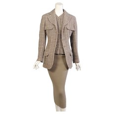 Chanel Boucle Jacket & Matching Cashmere Dress