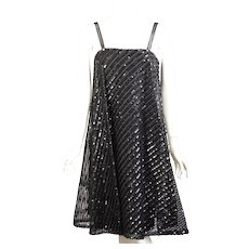 Bill Blass for Maurice Rentner Sequin Cage Dress