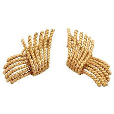 Schlumberger For Tiffany Gold Rope Twist Earrings