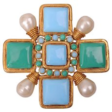 Chanel Couture Maltese Cross Pin