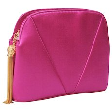 Valentino Couture Hot Pink Satin Bag, Never Used