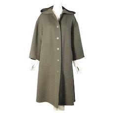 Geoffrey Beene Loden Green Coat with Hood