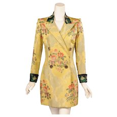 Jean Patou Haute Couture Brocade Coat designed by Christian Lacroix
