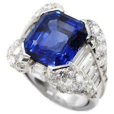 1970s Sapphire & Diamond Ring by Massoni
