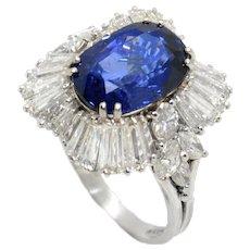 Massoni 1960s Sapphire and Diamond Ring