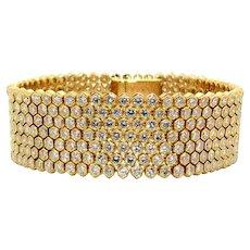 Italian 1970s Diamond and Gold Bracelet