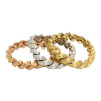 Three Italian 1970s Gold Bracelets