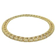 Bulgari 1980s Gold and Diamond Necklace