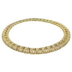 Bulgari 1980s Gold and Diamond Necklace
