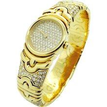 Bulgari Parentesi Diamond and Gold Watch