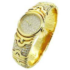 Bulgari Parentesi Diamond and Gold Watch
