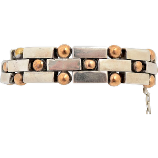 William Spratling Silver and Copper Bracelet