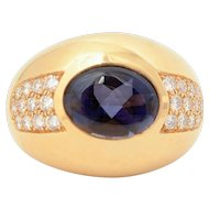 Mauboussin Iolite Diamond Gold Ring