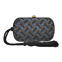 Bottega Venetta Silk Knot Clutch