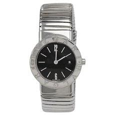 Bulgari Lady's Stainless Steel Tubogas Bangle Braclet Watch