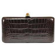 Oscar de la Renta Alligator Clutch