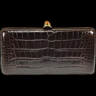 Oscar de la Renta Alligator Clutch