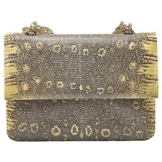 Darby Scott Lizard and Smokey Topaz Handbag