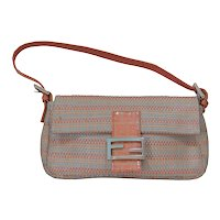 Fendi Woven Leather Baguette Bag