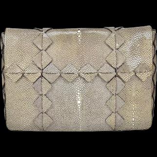 Ferragamo Stingray Clutch/Shoulder bag