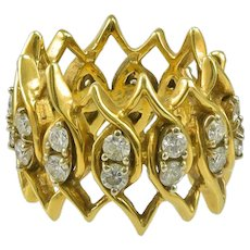Diamond Gold Band Ring