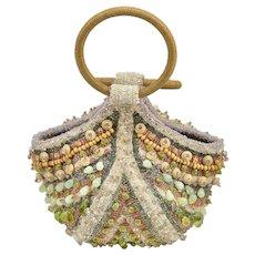Bea Valdes Beaded Handbag