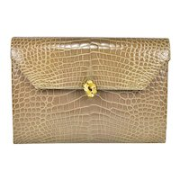 Vintage Helene Arpels Alligator Clutch Bag