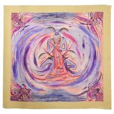 Hermes Asian Inspired Silk Scarf
