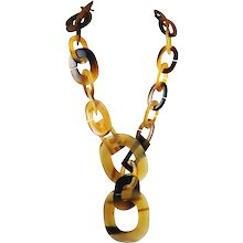 Hermes Buffalo Horn Lariat Necklace