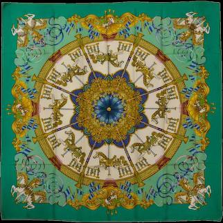 Hermes Carousel Silk Scarf