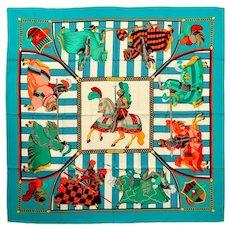 Hermes Chocs En Plumes Silk Scarf