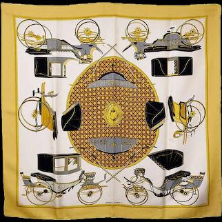 Hermes Transportation Silk Scarf
