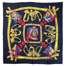 "Hermes ""Grand Uniforme"" Silk Scarf"