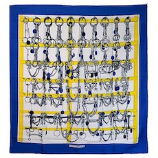 "Hermes ""Mors et Filets"" Silk Scarf"