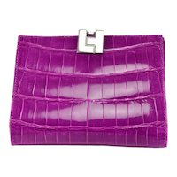 Grape Lambertson Truex Crocodile Wallet
