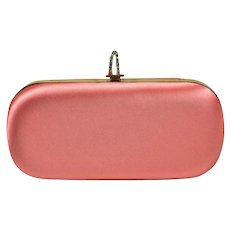 Marchesa Silk Clutch with Rock Crystal Accent Closure