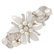 Ruser Pearl Diamond Gold Bracelet