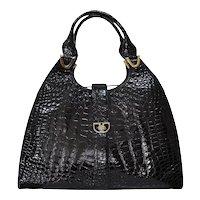 Vintage Lederer Large Crocodile Handbag