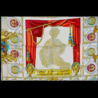 "Hermes Silk Scarf ""Hommage a Charles Garnier"""