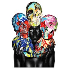 Rankin - Painted Skulls Eyes open
