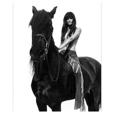 Rankin - Helena Christensen on Horse