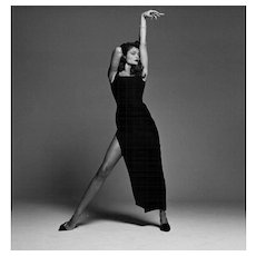 Michel Comte - Helena Christensen Black Dress